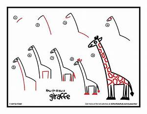 How To Draw A Giraffe - Art For Kids Hub - | Giraffe, Free ...