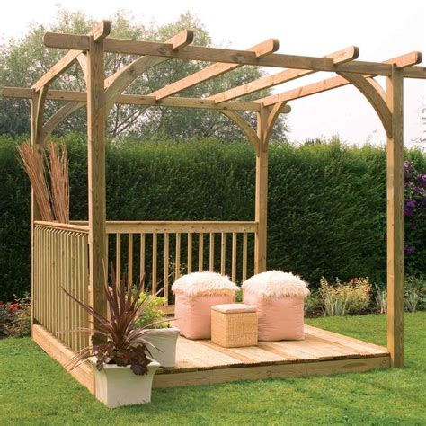 forest garden ultima pergola deck kit 2 4m x 2 4m rafter style roofing