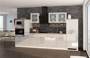 Küchenzeile Mit Elektrogeräten Billig : k chenzeile m nchen vario 4 k che mit e ger ten breite 360 cm hochglanz wei k che ~ Markanthonyermac.com Haus und Dekorationen