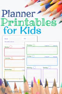 your own planner planner printables for kids
