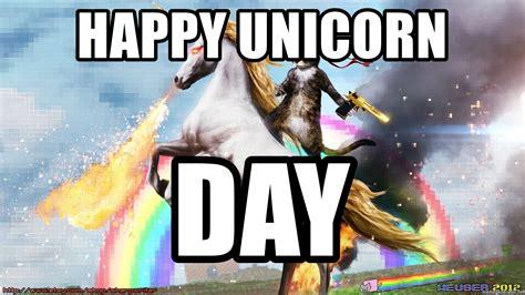 Unicorn Meme Generator - happy unicorn day cat unicorn rainbow meme generator