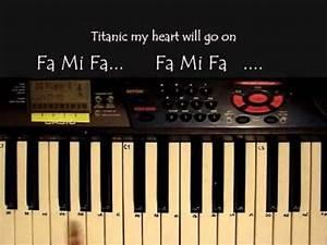 Titanic: my heart will go on en piano (basico) con notas YouTube