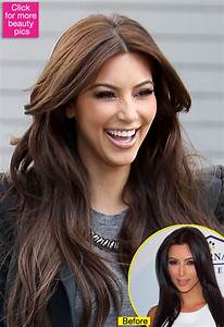 Kim Kardashian Hair Color Dark Brown