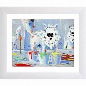 Poster Chambre Bébé : poster pour b b enfant d co murale poster chat les 4 pieds dans la peinture ~ Teatrodelosmanantiales.com Idées de Décoration