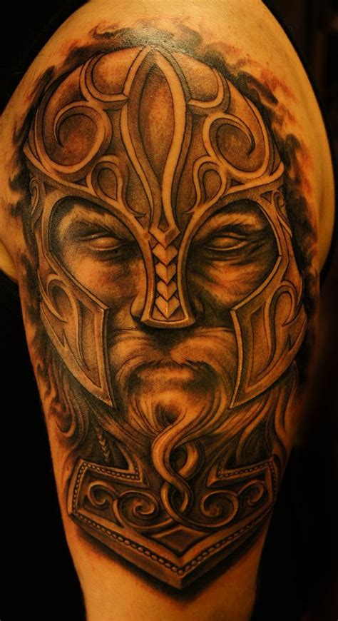 viking thor hammer tattoo by strangeris on deviantart