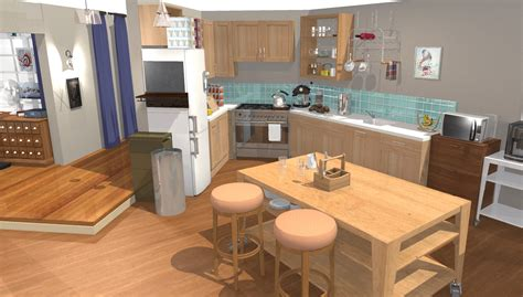 3d cuisine the big theory apartment in 3d homebyme