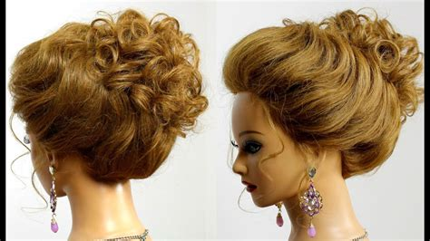 Hairstyle For Long Medium Hair. Easy Bridal Prom Updo