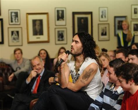 russell brand oxford union shut up you harry potter poofs russell brand doesn t