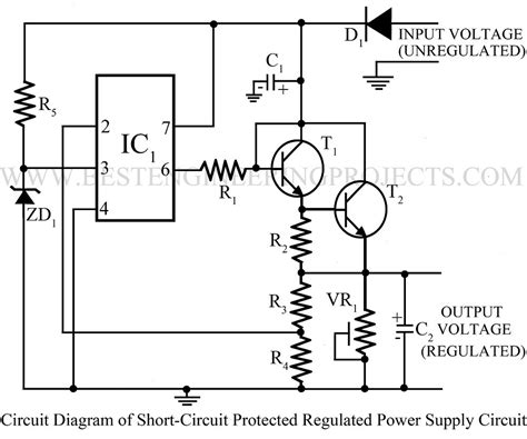 Power Supply Circuit Electronics Projects