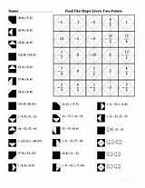 Slope Worksheet Points Finding Given Math Worksheets Teacher Integers Fractions Algebra Matching Problems Teacherspayteachers Graph Answer Form Grade Order Equation sketch template