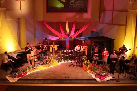 church stage decorating ideas easter