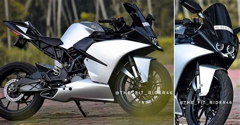 meet beautifully modified ktm rc  pearl silver edition