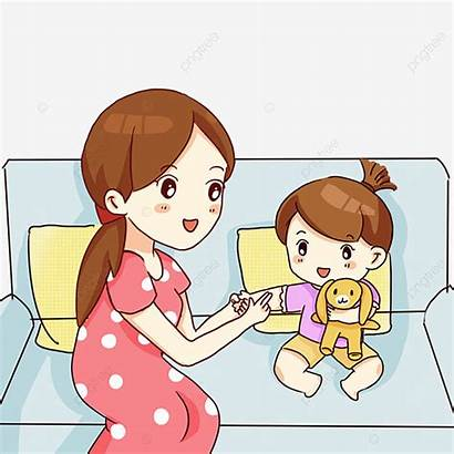 Cartoon Mom Playing Mother Daughter Play Games