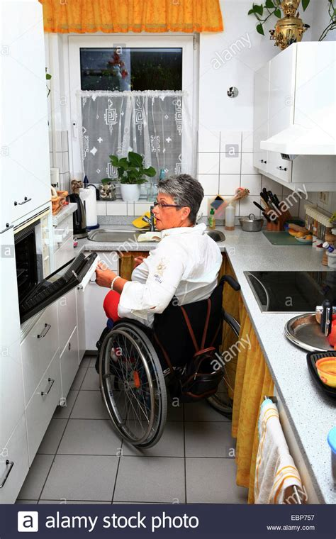 kitchen design for wheelchair user wheelchair user in a handicapped accessible kitchen stock 7935