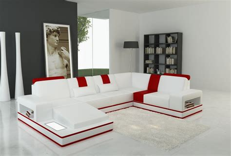 red and white sofa red modern and divani casa modern white and red leather