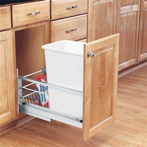 cabinet trash can pull out diy pull out garbage can