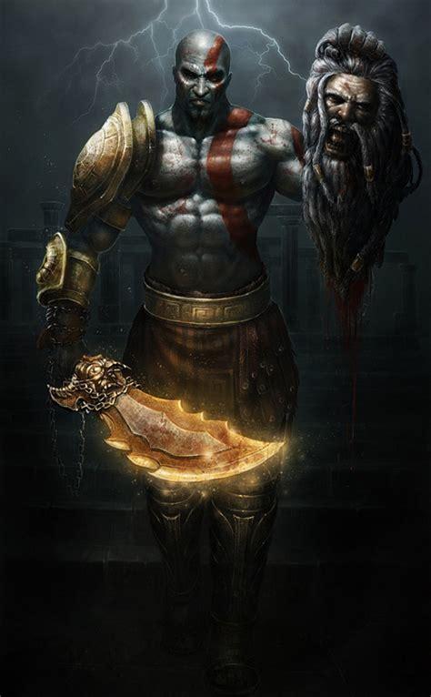 God Of War 22 Cool Kratos Artwork Collections Naldz