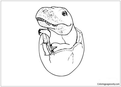 baby  rex coloring page  coloring pages