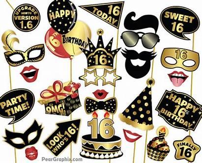 Birthday Props 13th Booth Boy Printable 18th