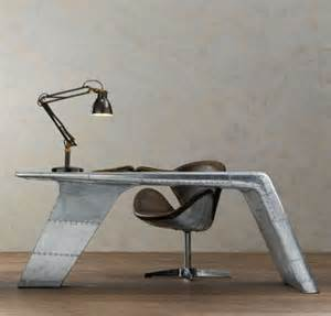 aviator wing desk inspired by wwii fighter planes