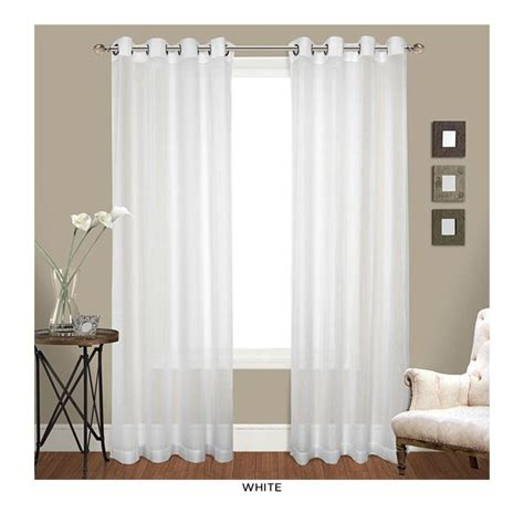 white grommet top curtains white shade http www