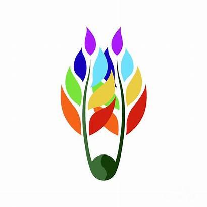 Chakra Desi Vector Flower Symbol Icon Digital