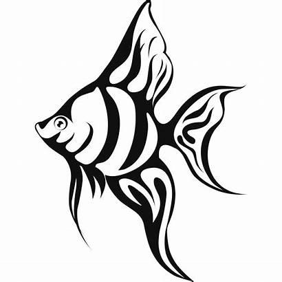 Fish Tropical Coloring Pages Drawings Wall Drawing