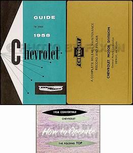 1958 Chevrolet Impala Convertible Owner U0026 39 S Manual Set
