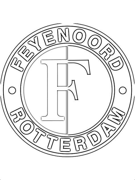 Feyenoord Kleurplaat by Kleurplaat Feyenoord Logo Gratis Kleurplaten