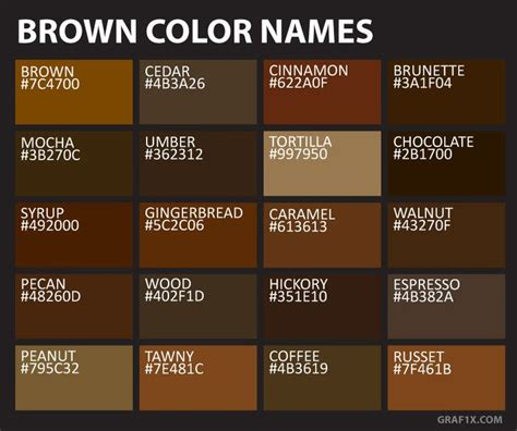 brown color names ngo interior   brown color