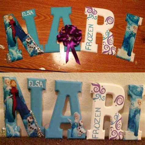elsa frozen theme wooden letters   love