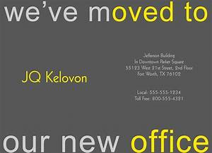business moving announcements moving business announcement With business moving postcards