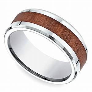 rosewood inlay men39s wedding ring in cobalt With rosewood wedding rings