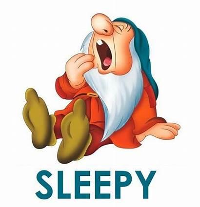 Sleepy Snow Disney Dwarfs Dwarf Seven Cartoon
