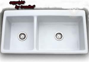 Küchenspüle Keramik Oder Edelstahl : keramiksp le doppel sp le 2 becken k chensp le lotus sp lstein keramik neu ~ Markanthonyermac.com Haus und Dekorationen
