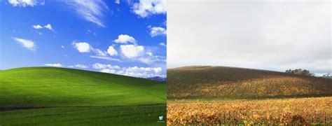 Windows Xp 壁紙の「草原」ソノマバレーが大変なことになっている