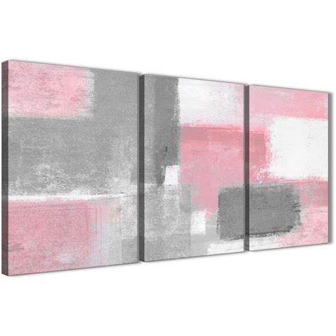 3 piece blush pink grey painting office canvas wall art decor abstract 3378 126cm set of prints