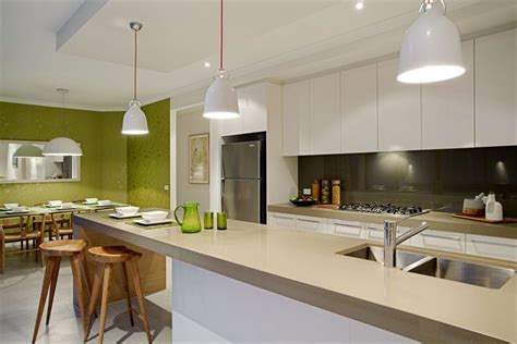 kitchen  lime trimmings   lime green feature wall