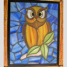 Faux Stained Glass Owl 3