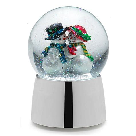 towle musical snow couple silver water globe silver