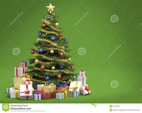 193 rbol de navidad en fondo verde imagen de archivo imagen