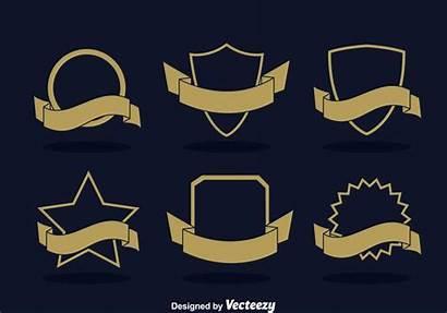 Ribbon Blank Badge Vector Shapes Label Vecteezy