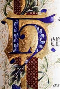 Illuminated Letter H Calligraphy