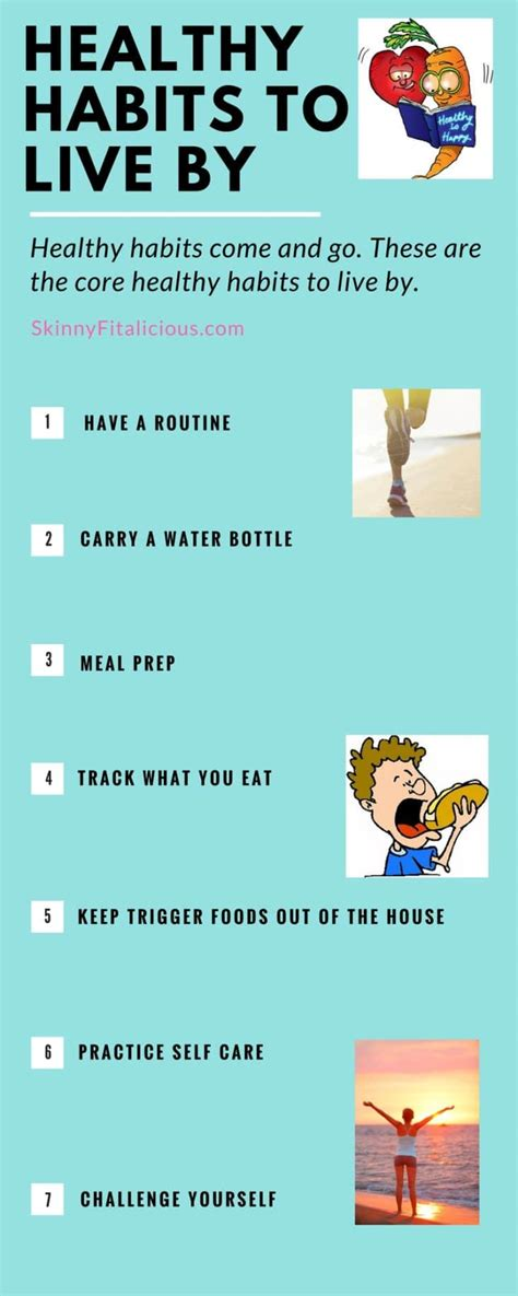Healthy Habits I Live By  Skinny Fitalicious