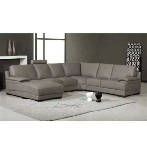 vente prive canape canapé d 39 angle en cuir italien 6 7 places mister achat