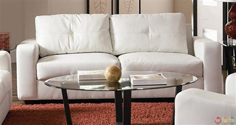 White Leather Sofa And Loveseat by Contemporary White Bonded Leather Sofa And