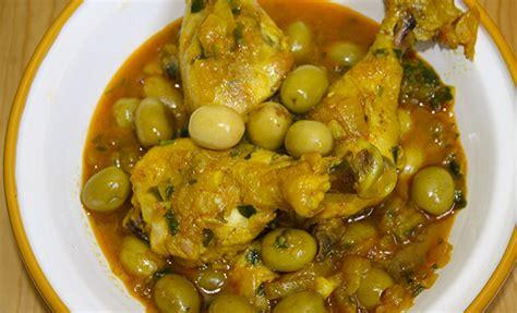 cuisine marocaine tajine recette tajine de poulet aux olives recette marocaine