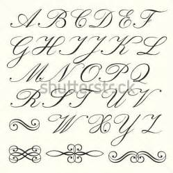 Script Alphabet Letters Clip Art