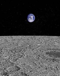 Illustration Of A View Of Earth From The Moon Digital Art ...