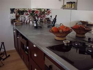 Plan De Travail Com : plan de travail en zinc exemples de r alisations en photo ~ Melissatoandfro.com Idées de Décoration